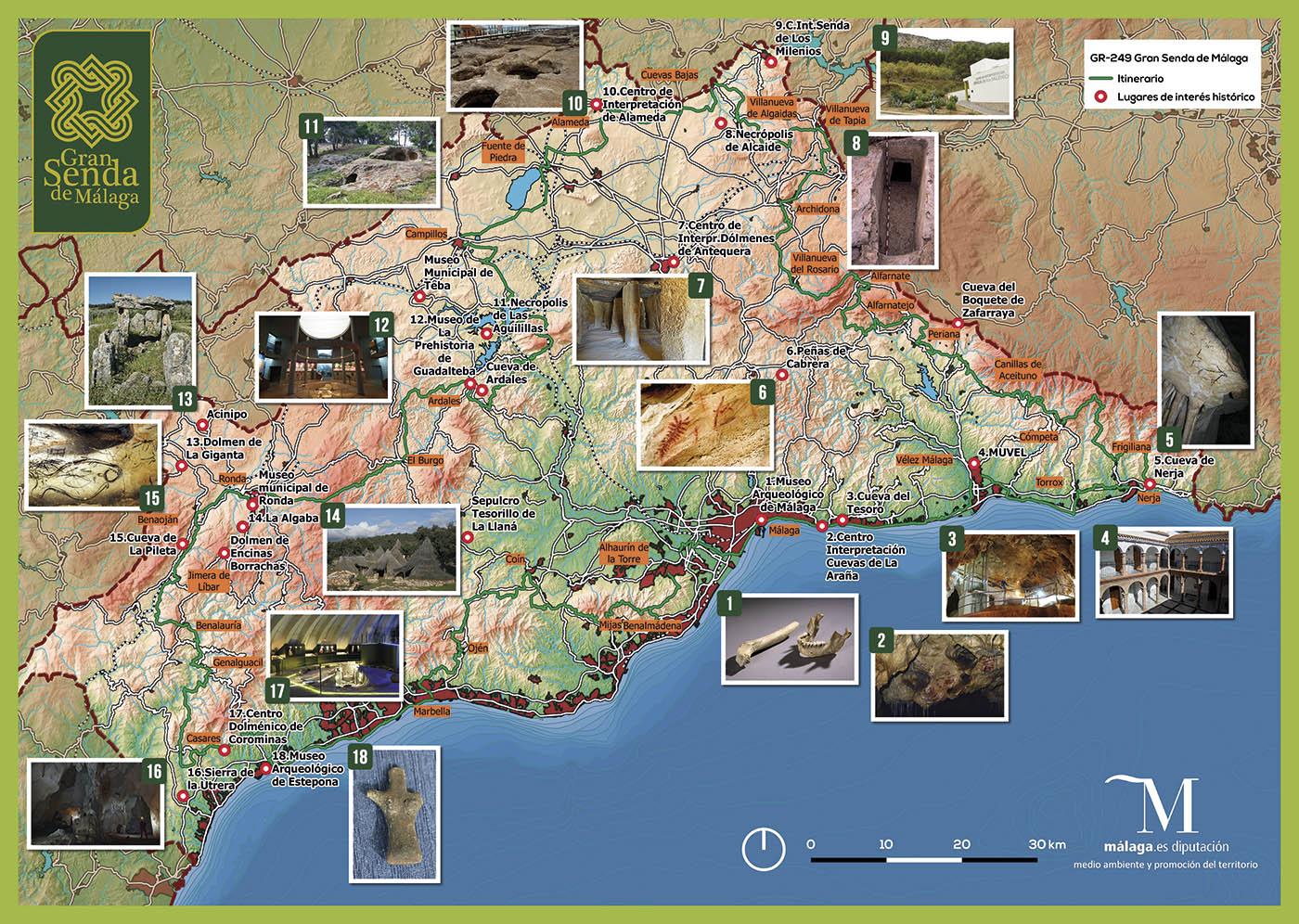 Itinerarios históricos por la provincia de Málaga