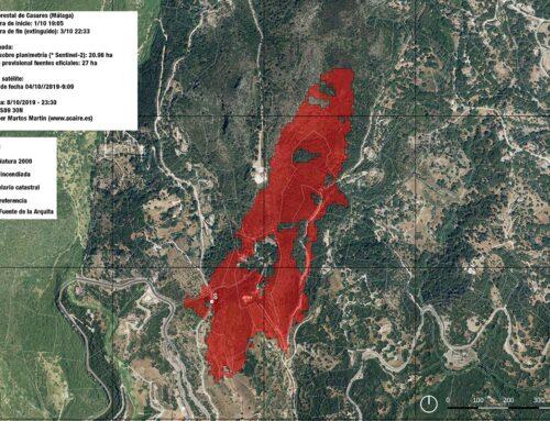 Calculamos el área del incendio del 1 de octubre en Casares