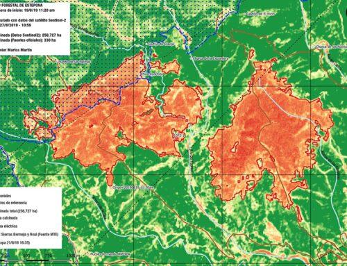 Calculamos el área calcinada en el incendio del 19 de agosto en Estepona