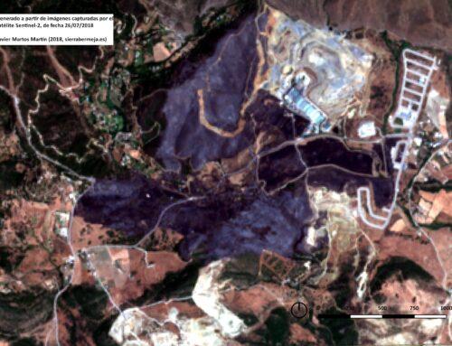 Generamos imágenes del área afectada en el incendio de Casares