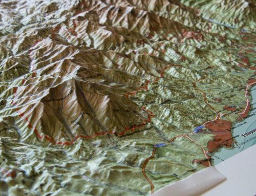 Presentamos en Estepona un mapa relieve de Sierra Bermeja