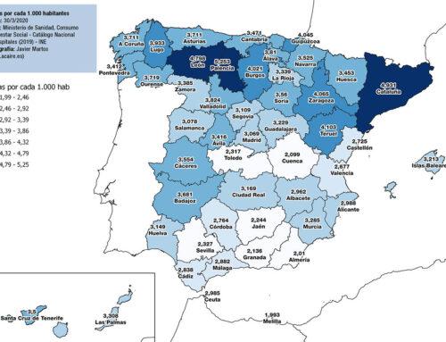 Datos espaciales por provincias asociados al COVID-19 en España