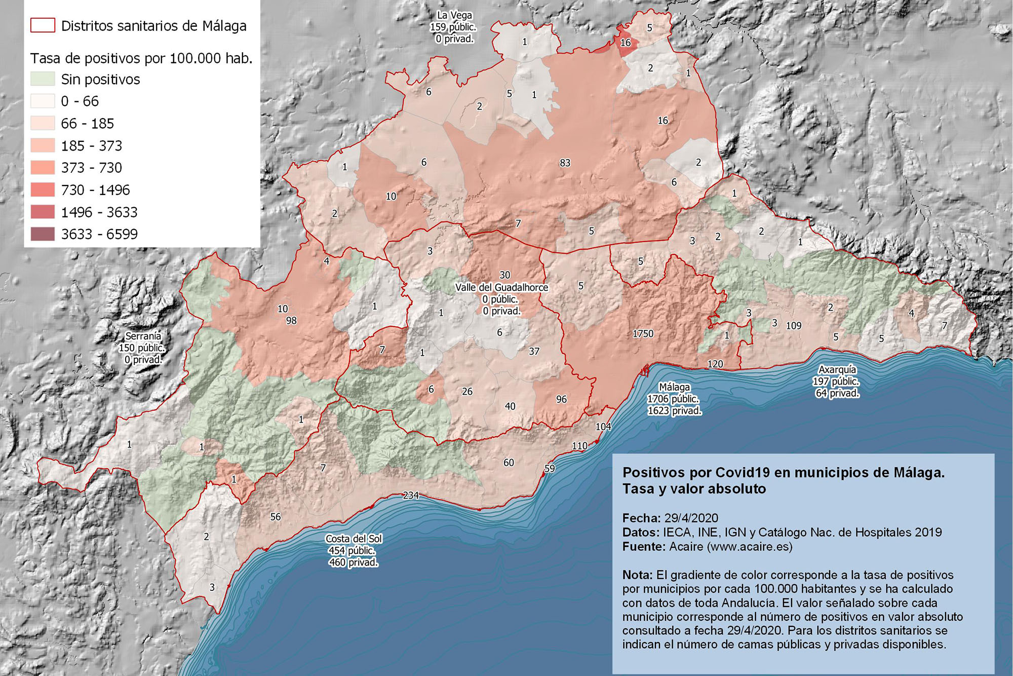 Índice de ruralidad municipios de Málaga