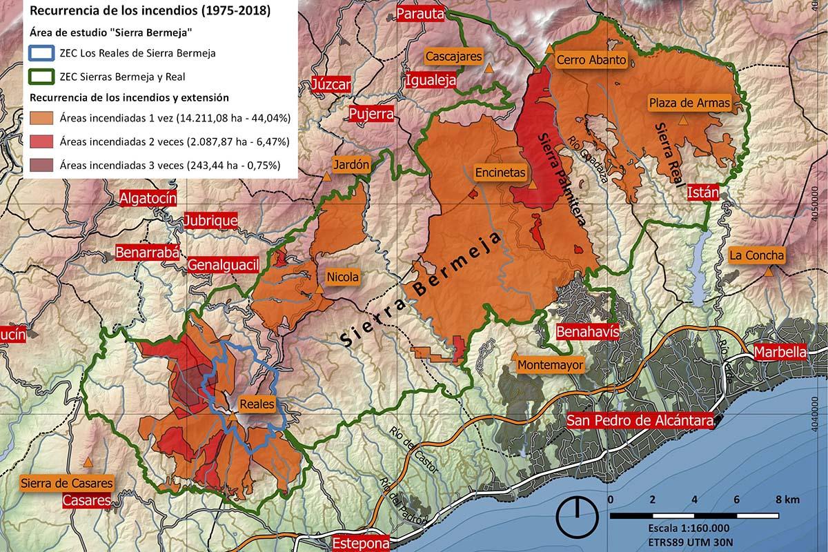 Grandes incendios forestales en Sierra Bermeja